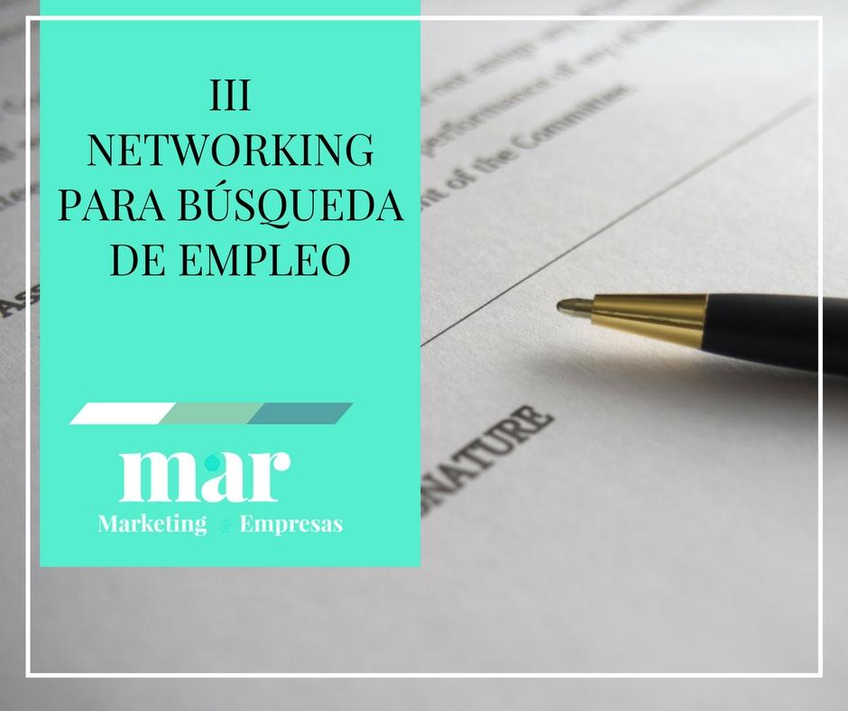 Networking búsqueda de empleo