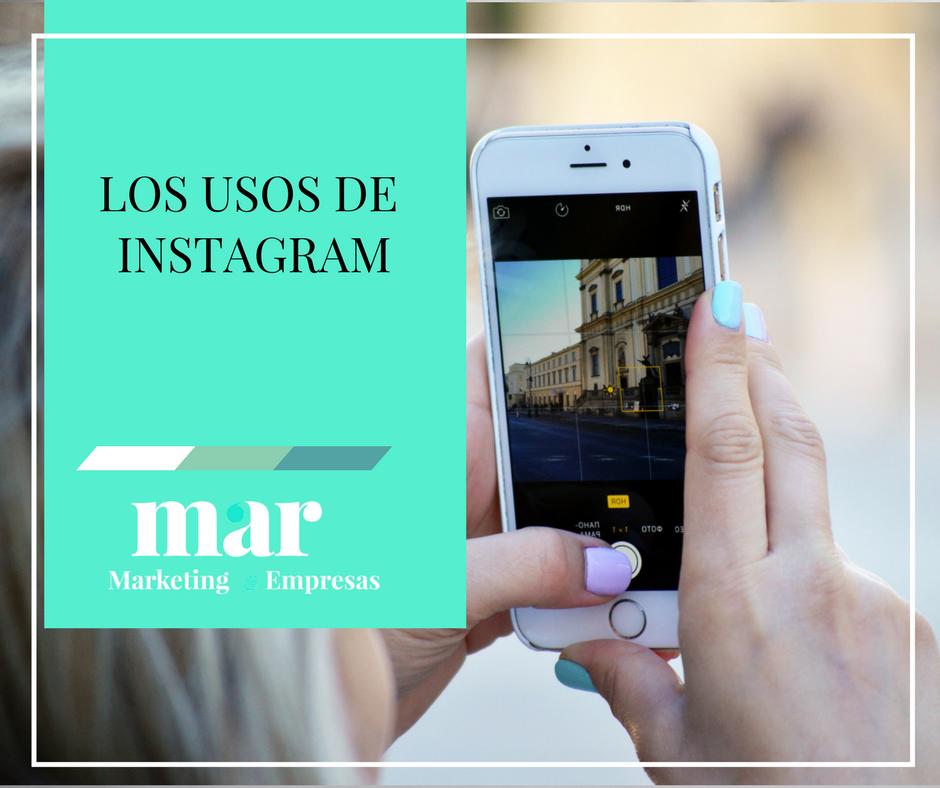 Los usos de Instagram